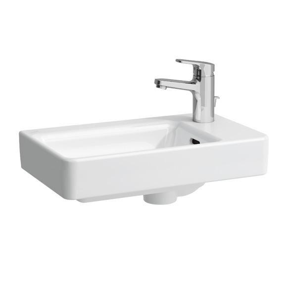 Laufen Pro Handwaschbecken Becken links, asymmetrisch mit 1 Hahnloch rechts, 48x28cm, weiß
