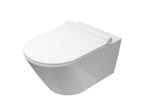 Catalano Zero Wand-WC newflush, Tiefspüler, spülrandlos, 55x35cm, CATAglaze+ VS55NR