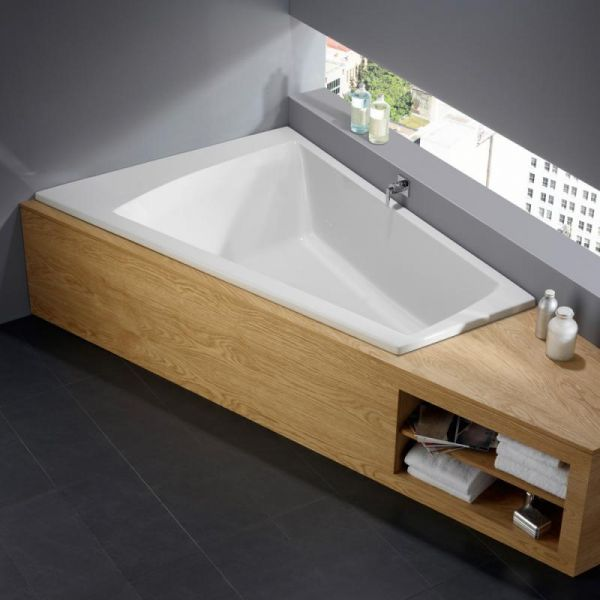 repabad genf duo rechts eck badewanne l 170 b 110 65 h 46 cm 25573we b dermaxx alles rund. Black Bedroom Furniture Sets. Home Design Ideas