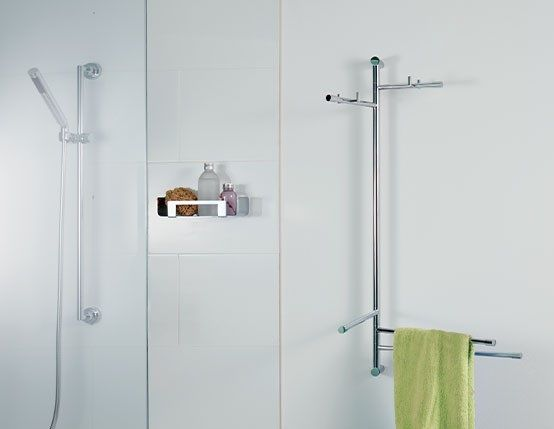 Giese Family Garderobenstangen und Handtuchhalter schwenkbar, chrom
