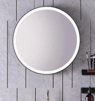 Alape Spiegel Ø 60cm umlaufend indirektes LED-Licht, mattschwarz pulverbeschichtet SP.FR600.R1