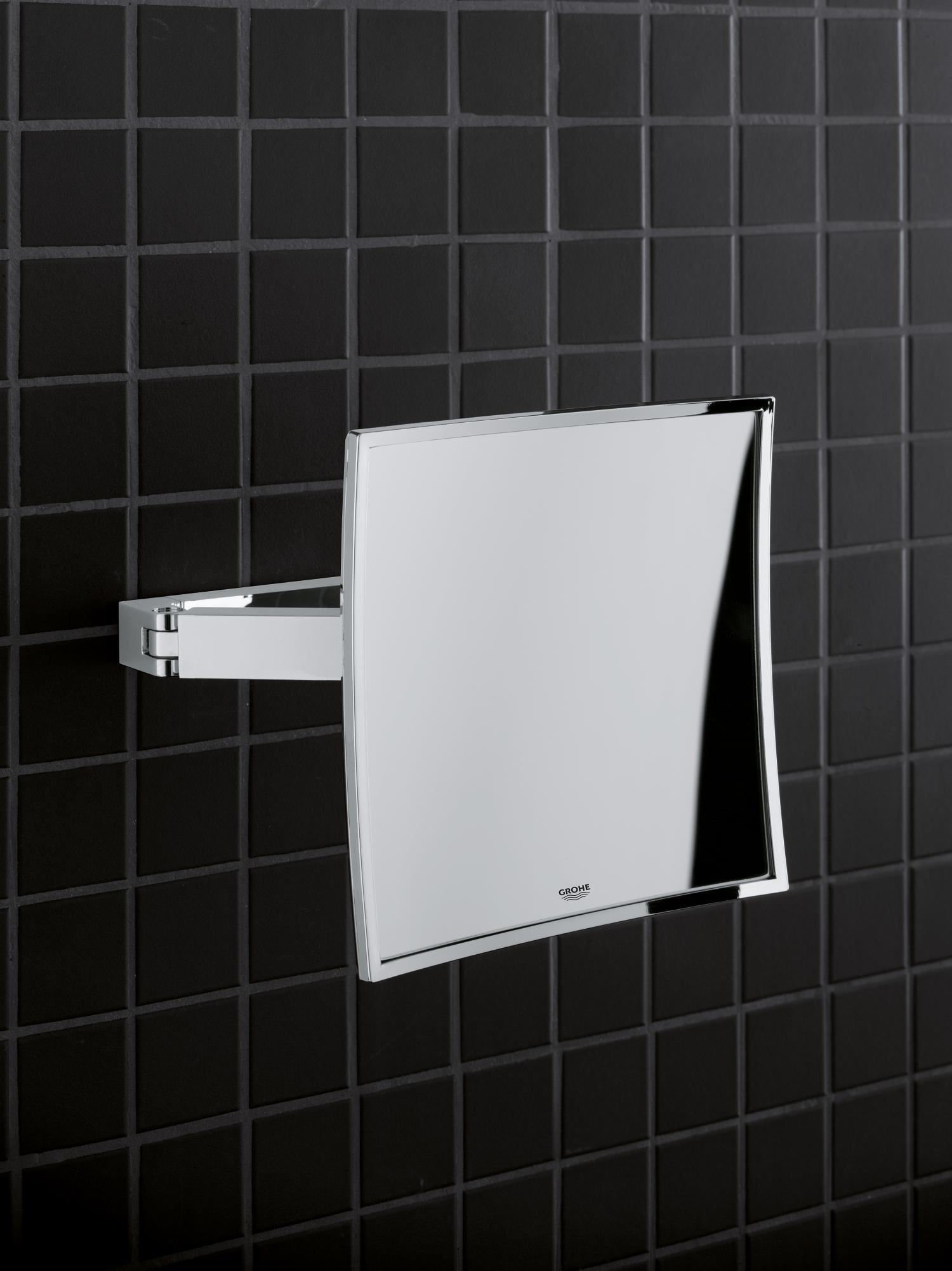 Grohe Selection Cube Kosmetikspiegel 3 fache Vergrößerung chrom