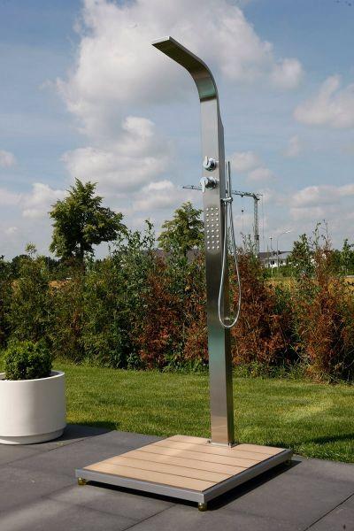 Ideal Helena Modell 70 Gartendusche für Kalt- und Warmwasser mit Kopf-, Körper- und Handdusche
