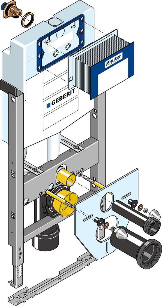 Relativ Huter Montage-Element für ein Wand-WC, zum Einbau im Trockenbau TY58