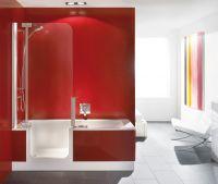 Artweger Twinline 2 Duschbadewanne für Duschtür 170x80cm, weiß