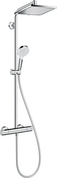 Hansgrohe Crometta E 240 1jet Showerpipe mit Thermostat, chrom