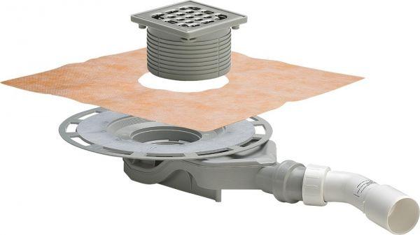 Viega Advantix-Badablauf Einbauhöhe ab 62mm, Aufsatz mit Rahmen Kunststoff, Sanierungsmodell