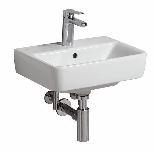 Keramag Renova Nr.1 Comprimo Handwaschbecken 45x34cm, mit Hahnloch, mit Überlauf, weiß