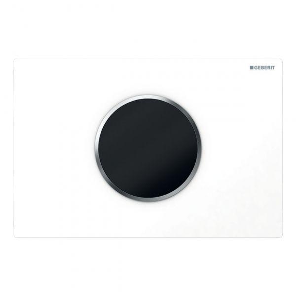 Geberit Sigma10 Betätigungsplatte 2-Mengen-Spülung, automatisch/berührungslos, weiß/chrom hgl./weiß