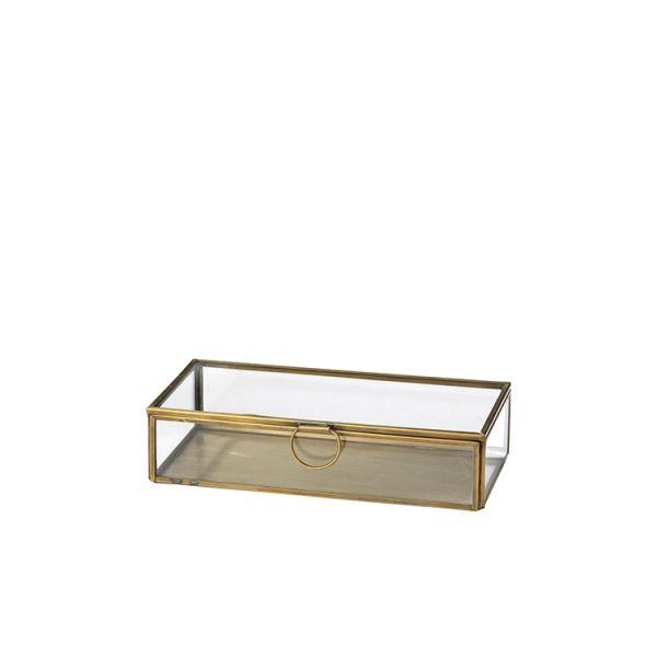 Broste Janni Aufbewahrungsbox 10x21,5cm, brass finish