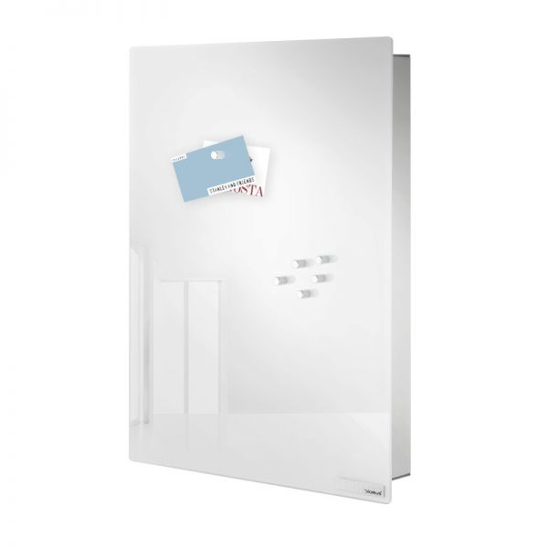 blomus VELIO Schlüsselkasten / Glasmagnettafel edelstahl matt/weiß