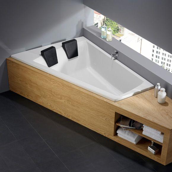 repabad genf duo rechts eck badewanne l 180 b 130 65 h 46 cm wei 21557we b dermaxx. Black Bedroom Furniture Sets. Home Design Ideas