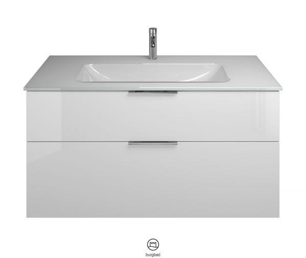 Burgbad Eqio Glas-Waschtisch mit Waschtischunterschrank SEYX122F2009A0070G0146