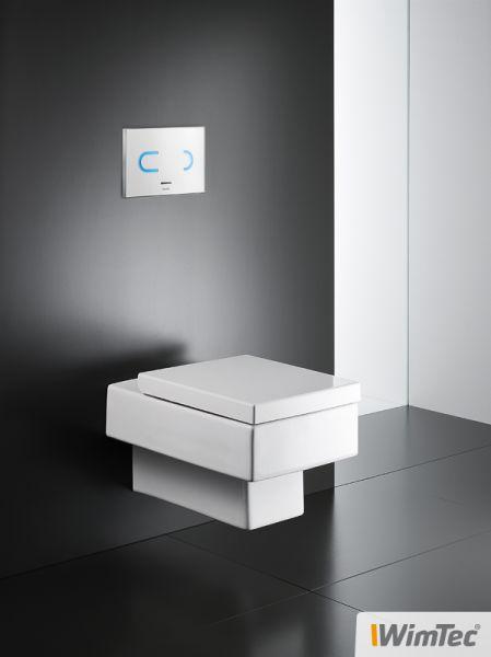 WimTec OCEAN T6 Berührungslose WC-Betätigungsplatte für Netzbetrieb, für Geberit Sigma (UP320)