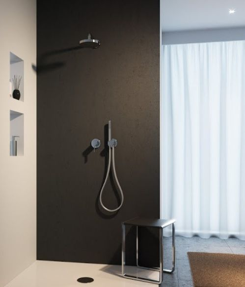Keuco IXMO Duschsystem mit Einhebelmischer u. Kopfbrause, chrom