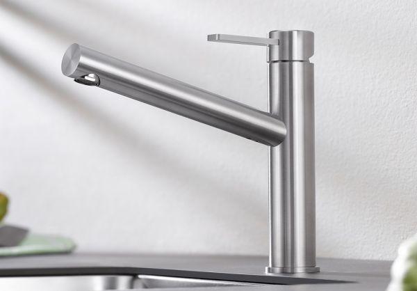 Blanco Ambis Küchen-Einhebelmischer HD, edelstahl gebürstet 523118