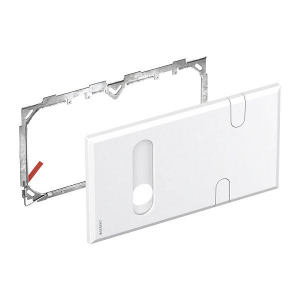 Geberit Abdeckplatte für Waschtischarmaturen mit UP-Funktionsbox und UP-Siphon