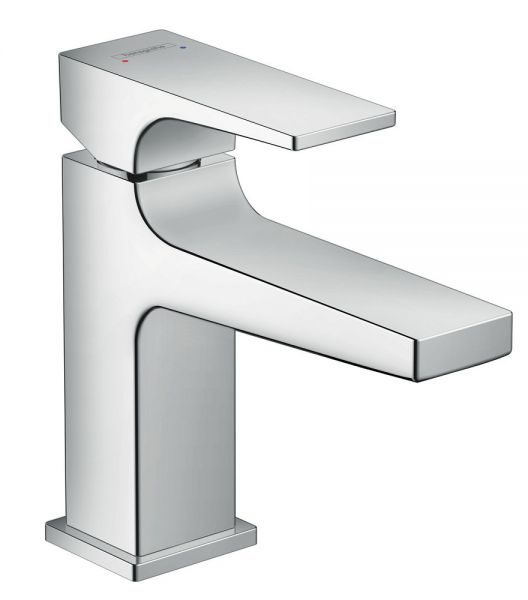 Hansgrohe Metropol Einhebelmischer für Handwaschbecken 100 mit Hebelgriff und Push-Open