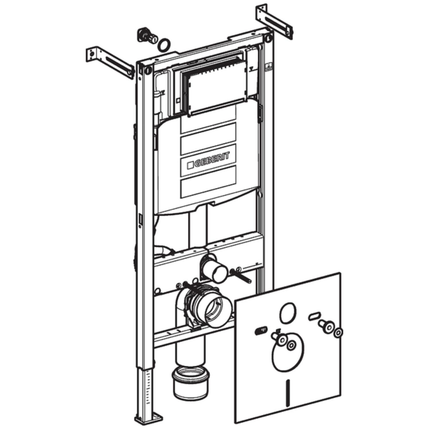 Geberit Duofix Montageelement für Wand-WC mit UP-Spülkasten Sigma UP320, BH  112cm