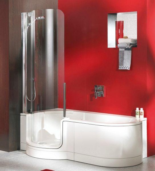 Artweger Twinline 1 Duschbadewanne gerundet für Duschtür mechanisch 180x100/80cm, weiß