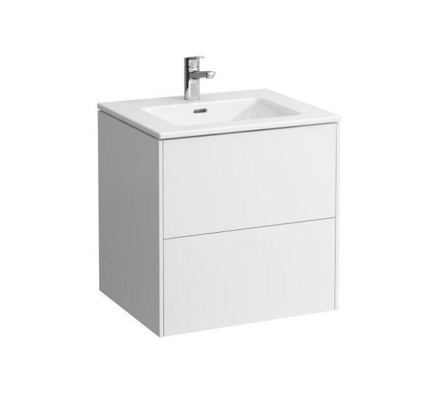 Laufen Base Pro S Waschtisch mit Base Waschtischunterschrank, 2 Schubladen, 60x50cm 86496.0