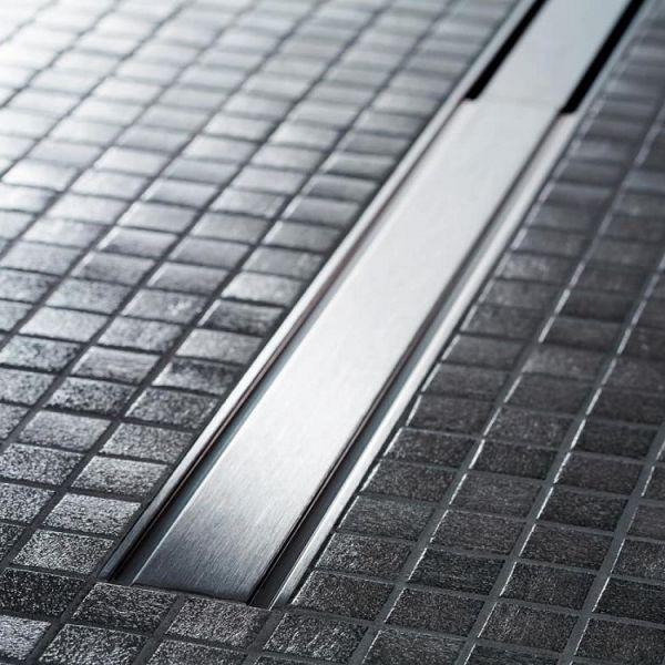 Geberit Duschrinne CleanLine60, für dünne Bodenbeläge 30-90cm, edelstahl gebürstet