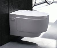 Geberit AquaClean Mera Comfort Wand-Dusch-WC Komplettanlage, weiß