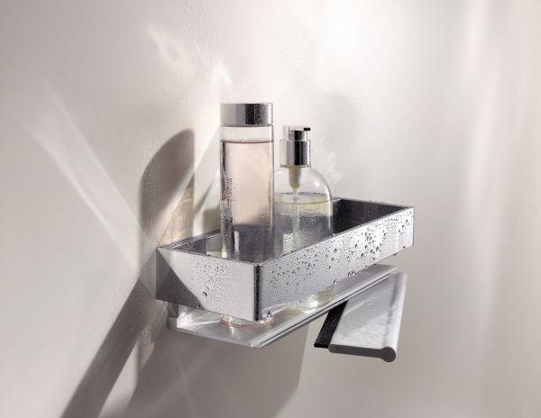 keuco edition 11 duschkorb mit integriertem glasabzieher 300x95mm chrom 11159010000 b dermaxx. Black Bedroom Furniture Sets. Home Design Ideas
