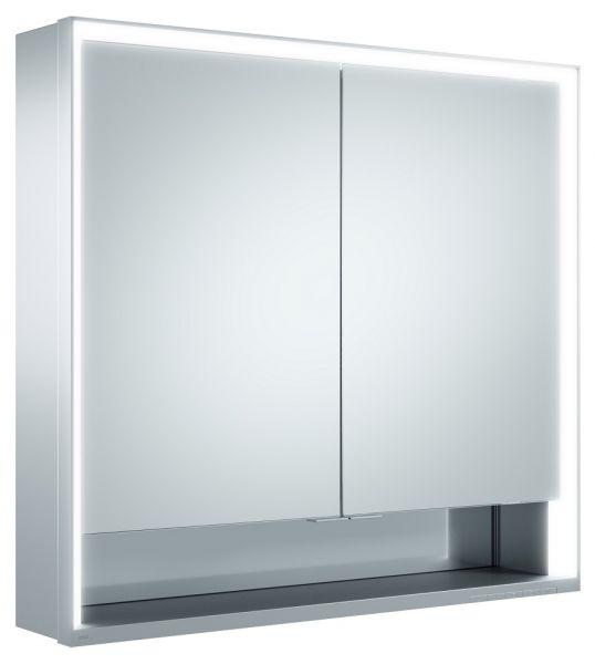 keuco royal lumos spiegelschrank mit led beleuchtung mit 2 t ren wandvorbau 80cm. Black Bedroom Furniture Sets. Home Design Ideas