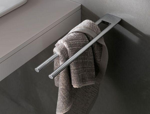 keuco edition 400 handtuchhalter 2 teilig feststehend 450mm chrom 11518010000 b dermaxx. Black Bedroom Furniture Sets. Home Design Ideas