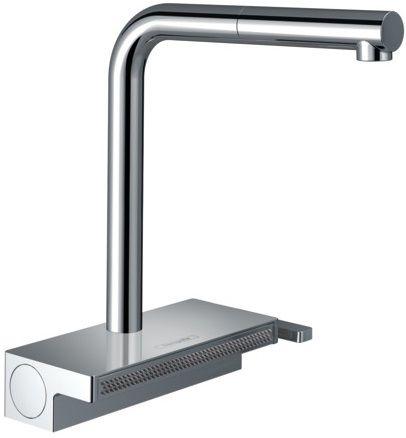 Hansgrohe Aquno Select M81 Einhebel-Küchenmischer 250, Ausziehauslauf, 2jet chrom 73836000