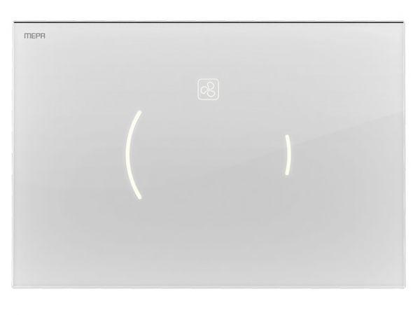 MEPA Sanicontrol® Betätigungsplatte MEPAzero Lumo Design 2-Mengen, Glas weiß