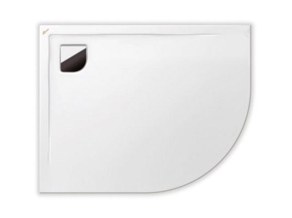 Polypex RONDO 100x80 links Viertelkreis-Duschwanne 100x80x2cm