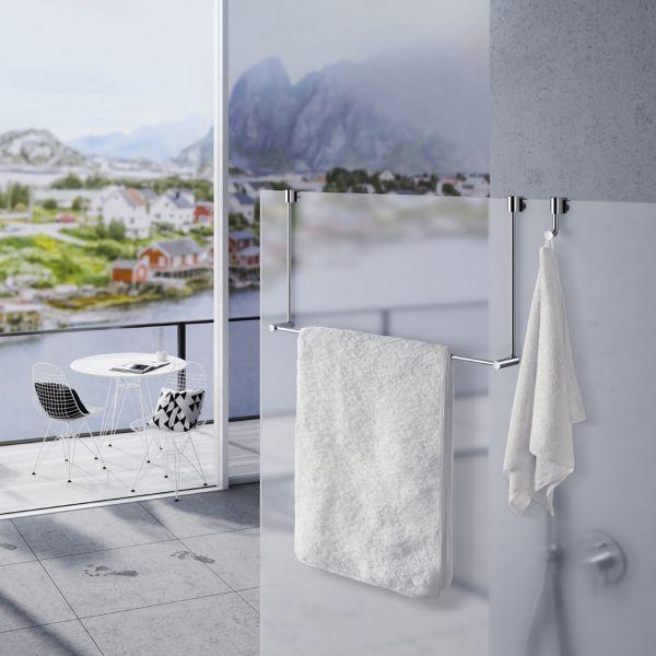 Smedbo Sideline Handtuchhalter für Glasduschwand chrom