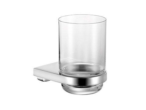 Keuco Moll Glashalter komplett mit Echtkristall-Glas, chrom