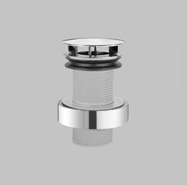 """Alape VT.3 Schaftventil 1 1/4"""" für Becken ohne Überlauf, Haube Ø 74 mm, verchromt"""
