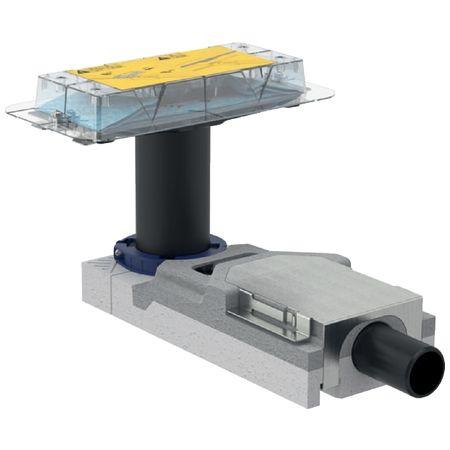 Geberit Rohbauset, zu Geberit Duschrinnen der Reihe CleanLine, für Estrichhöhe am Einlauf 65–90mm