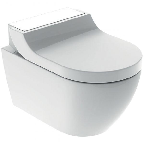 Geberit AquaClean Tuma Comfort Wand-Dusch-WC Komplettanlage, weiß/Glas weiß 146.290.SI.1