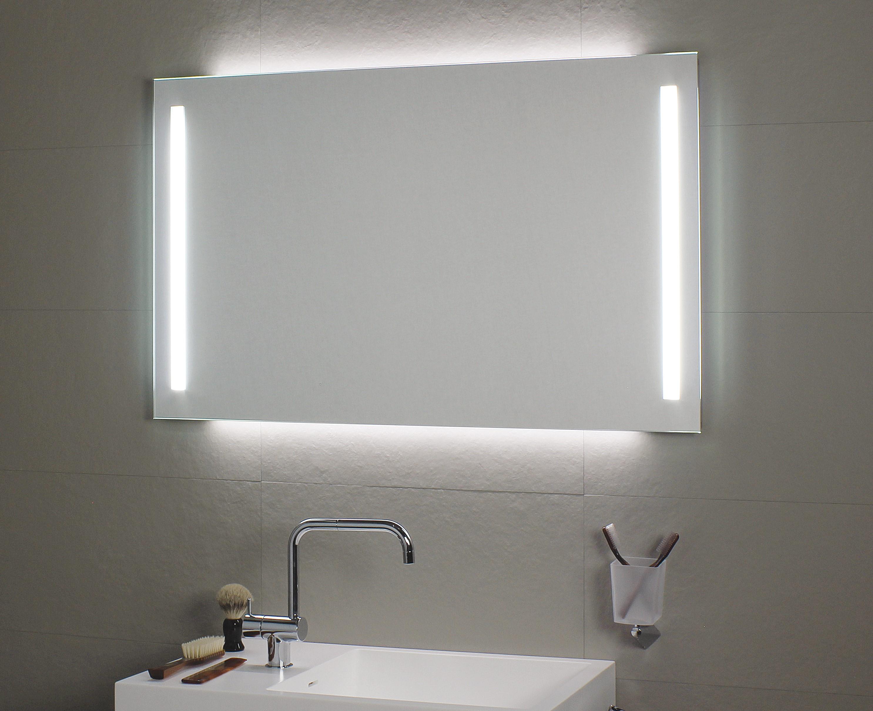 koh i noor duo spiegel mit frontaler led beleuchtung seitlich und indirekter led beleuchtung. Black Bedroom Furniture Sets. Home Design Ideas