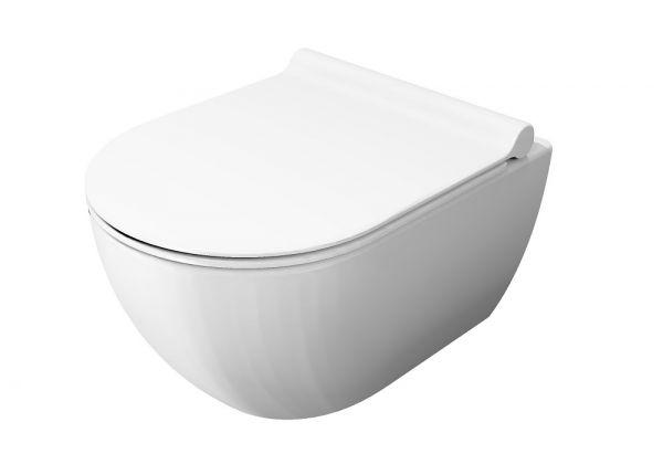 Catalano Sfera Wand-WC compact newflush, Tiefspüler, spülrandlos, 50x35cm, weiß CATAglaze VSS50R