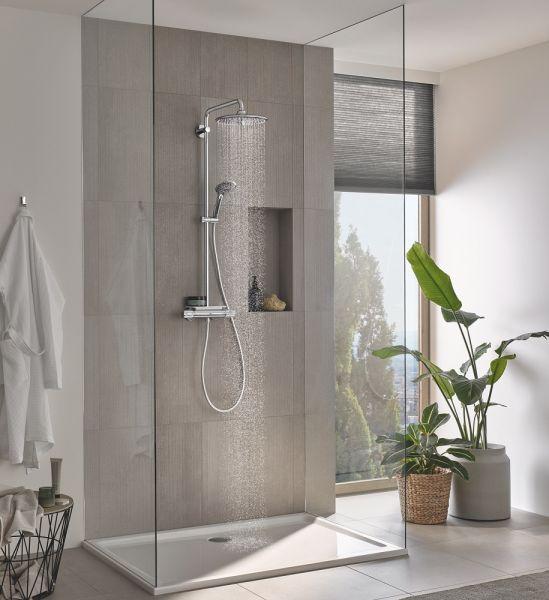 Grohe Vitalio System 260 Duschsystem mit Thermostatbatterie und Ablage, für die Wandmontage 26403002 1
