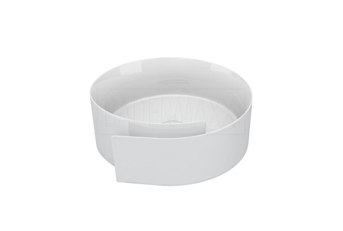 flaminia roll aufsatzwaschtisch rund 44cm aufsatzwaschtische badkeramik bad b dermaxx. Black Bedroom Furniture Sets. Home Design Ideas