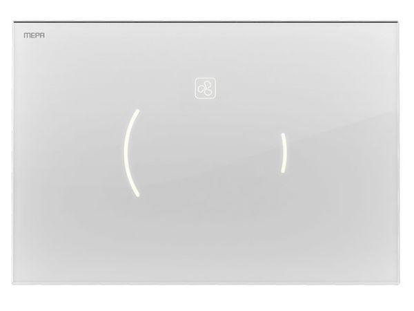 MEPA Sanicontrol® Betätigungsplatte MEPAzero Lumo Design 2-Mengen teileingelassen, Glas weiß
