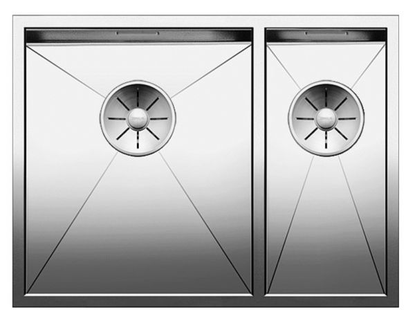 Blanco Zerox 340/180-IF Doppel-Edelstahlspüle, edelstahl seidenglanz 521611