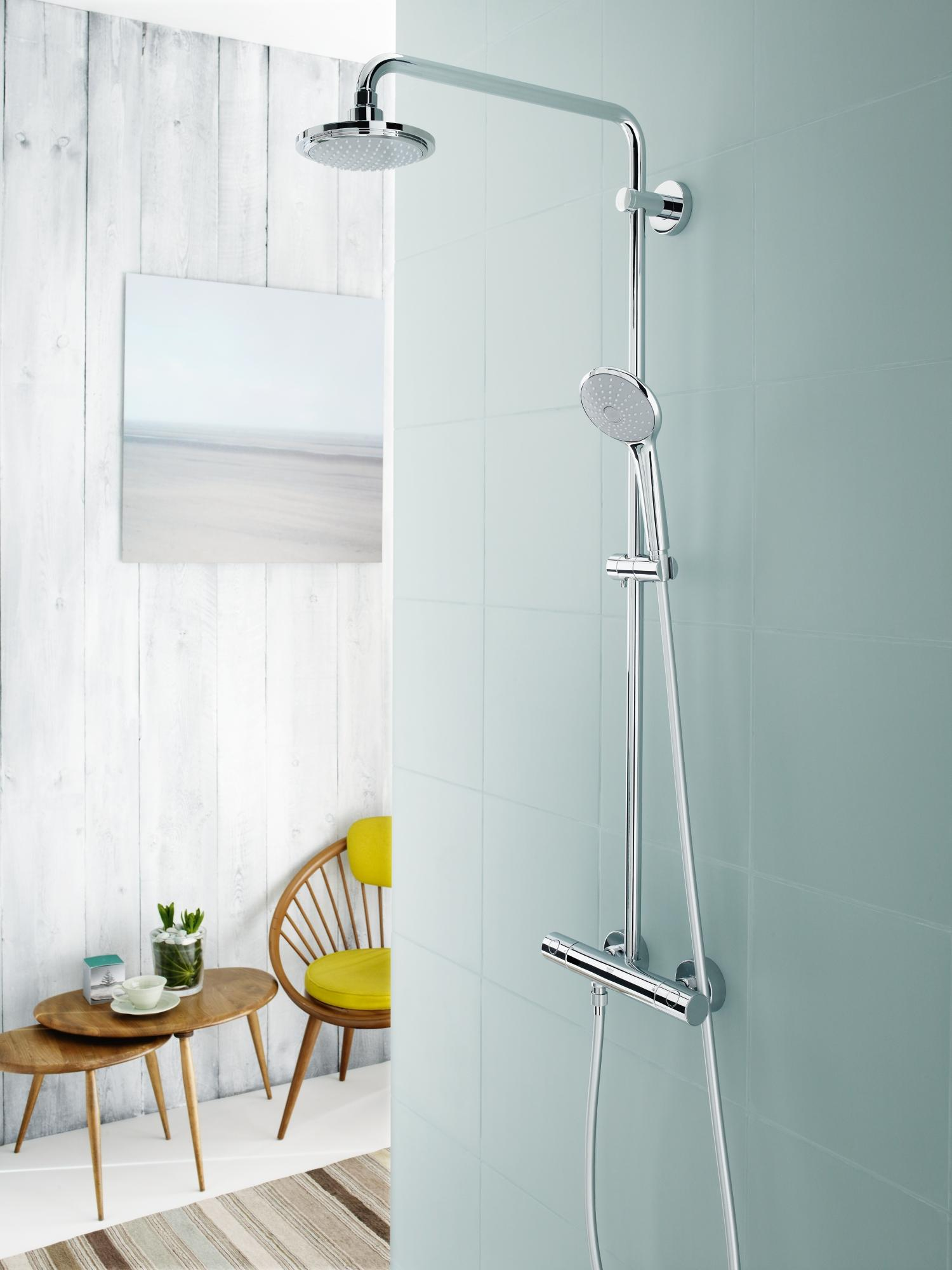 Grohe Euphoria System 180 Duschsystem mit Thermostatbatterie chrom