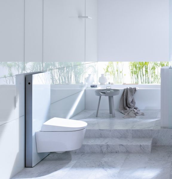Geberit Monolith Sanitärmodul für Wand-WC, 101 cm, Glas weiß 131022SI5