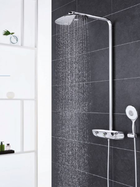 grohe rainshower system smartcontrol 360 duo duschsystem mit thermostatbatterie chrom 26250000. Black Bedroom Furniture Sets. Home Design Ideas