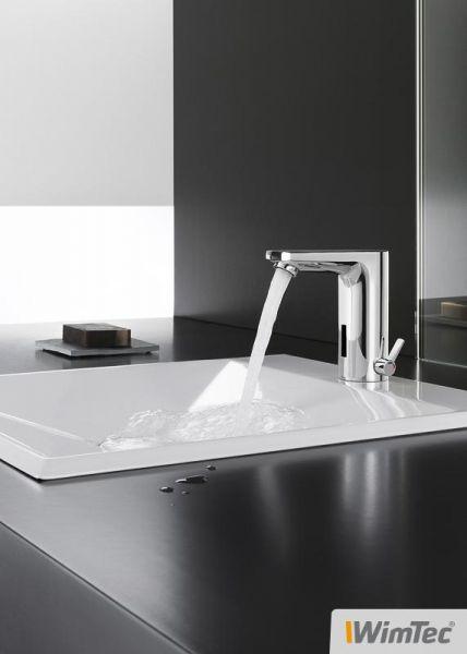 WimTec SMART Berührungslose Waschtischarmatur mit Mischer für Netzbetrieb, chrom