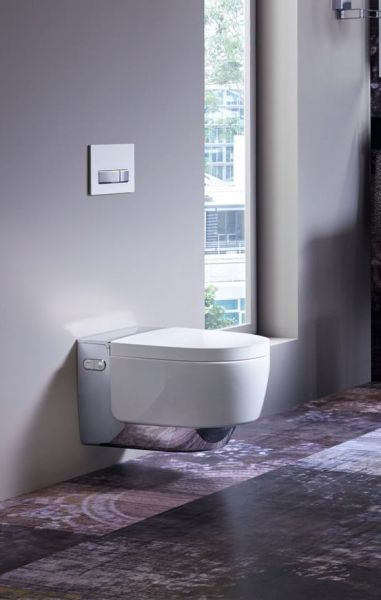 Geberit AquaClean Mera Classic Wand-Dusch-WC Komplettanlage, weiß/chrom