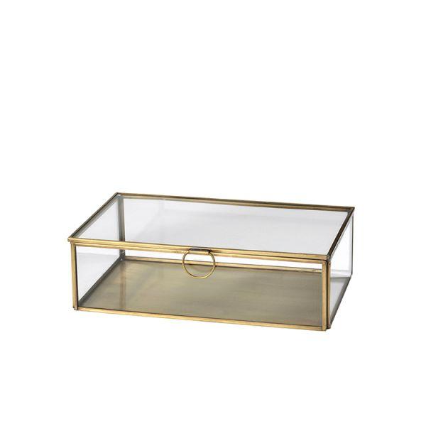 Broste Janni Aufbewahrungsbox 15x26cm, brass finish
